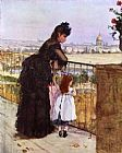 Berthe Morisot On the Balcony painting
