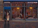 Brent Lynch Fifth Avenue Cafe I painting