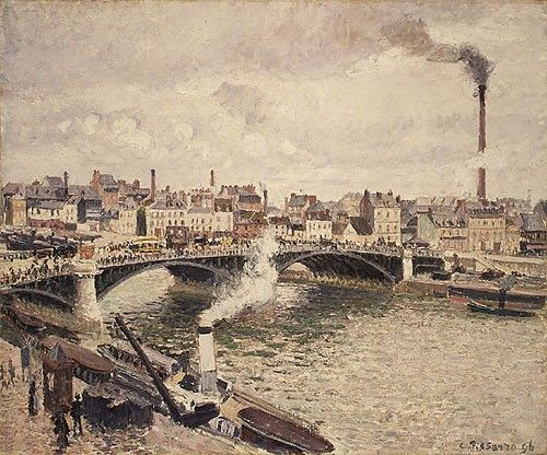 Camille Pissarro Morning An Overcast Day Rouen