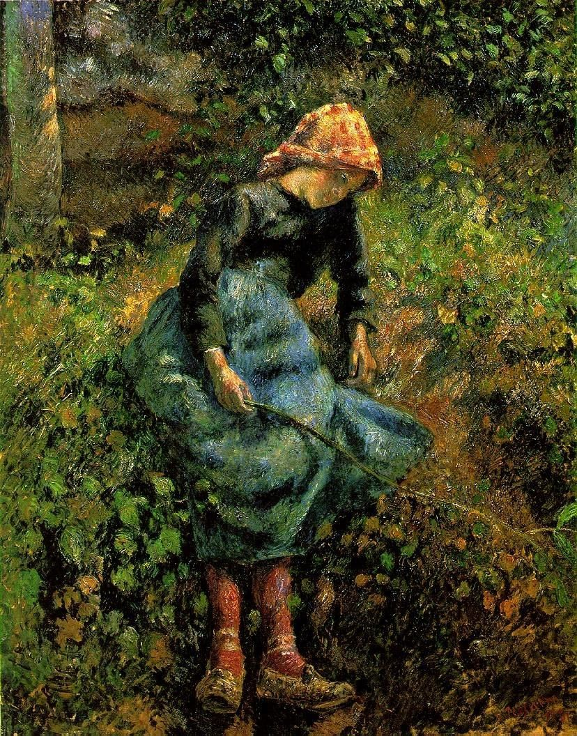 Camille Pissarro Young Peasant Girl with a Stick