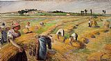 Camille Pissarro The Harvest 1882 painting