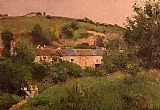 Camille Pissarro Village Path painting