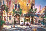 Venice paintings - Evening in Venice by Cao Yong