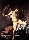 Music paintings - Amor Vincit Omnia by Caravaggio