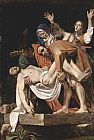 Christ paintings - The Entombment of Christ by Caravaggio