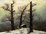 Caspar David Friedrich Dolmen in the Snow painting