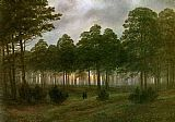 Caspar David Friedrich Evening painting