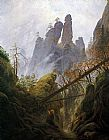 Caspar David Friedrich Rocky Ravine painting