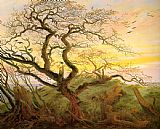 pear tree Paintings - The Tree of Crows
