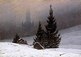 Caspar David Friedrich Winter Landscape painting