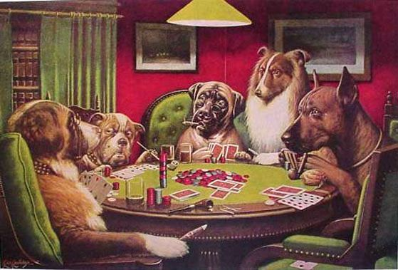 Cassius Marcellus Coolidge Dogs Playing Poker