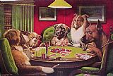 Cassius Marcellus Coolidge Dogs Playing Poker painting