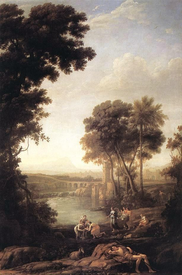 Claude Lorrain Landscape with the finding of Moses