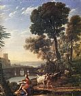 Claude Lorrain Landscape with Apollo Guarding the Herds of Admetus painting