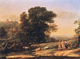 Claude Lorrain Landscape with Cephalus and Procris Reunited by Diana painting