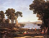 Claude Lorrain Landscape with Dancing Figures painting