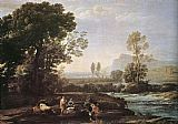 Claude Lorrain Landscape with Rest in Flight to Egypt painting