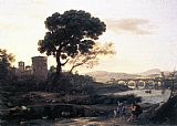 Claude Lorrain Landscape with Shepherds the Pont Molle painting