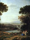 Claude Lorrain The Rest on the Flight into Egypt painting