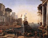 Claude Lorrain Ulysses Returns Chryseis to her Father painting