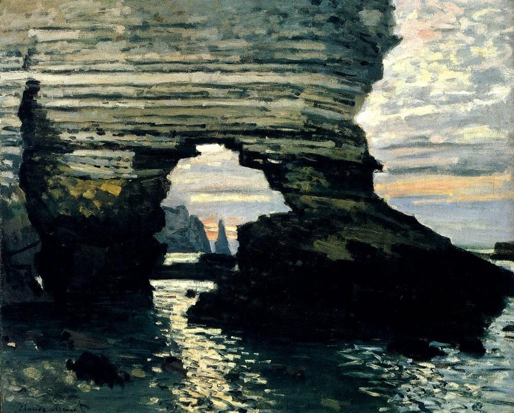 Claude Monet La Porte D Amount Etretat