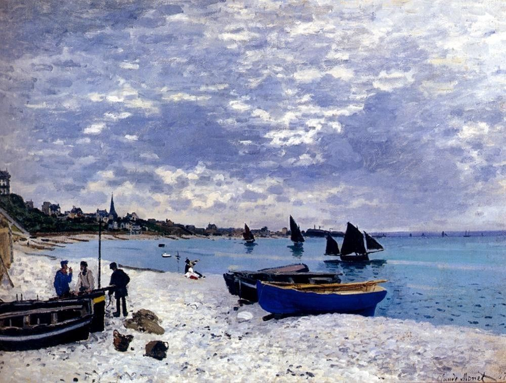 Claude Monet The Beach At Sainte-Adresse