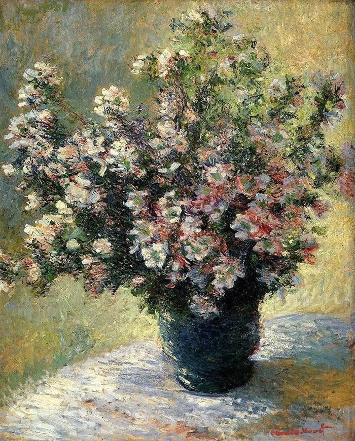 Claude Monet Vase Of Flowers