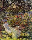 Claude Monet Alice Hoschede in the Garden painting