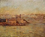 Claude Monet Antibes and the Maritime Alps painting