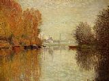 Claude Monet Autumn on the Seine at Argenteuil painting