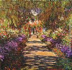 Claude Monet Avenue in Giverny painting