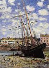 Claude Monet Boat at Low Tide at Fecamp painting