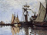 Claude Monet Boats in the Port of Honfleur painting