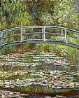 Claude Monet Bridge over a Pool of Water Lilies painting