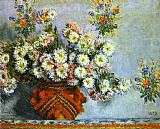 Claude Monet Chrysanthemums painting