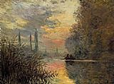 Claude Monet Evening at Argenteuil painting