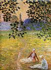 Claude Monet Evening in the Meadow at Giverny painting