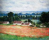 valley of the seine giverny Paintings - Field Of Poppies, Giverny