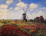 Claude Monet Field of Tulips in Holland painting