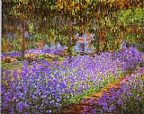 the garden of prayer Paintings - Irises in Monet's Garden