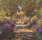 the garden of prayer Paintings - Main Path through the Garden at Giverny