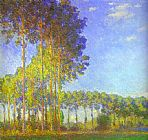 Claude Monet Poplars on the Banks of the Epte painting