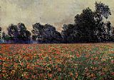 Claude Monet Poppies at Giverny painting