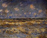 Claude Monet Rough Sea painting