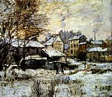 Claude Monet Snow Effect With Setting Sun painting