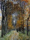 Claude Monet The Avenue painting
