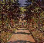 Claude Monet The Main Path at Giverny painting