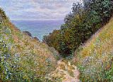 Claude Monet The Path at La Cavee Pourville painting