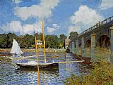 Claude Monet The Road Bridge at Argenteuil 1 painting