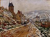 Claude Monet The Road in Vetheuil in Winter painting